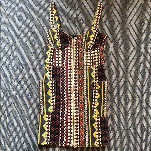Marc by Marc Jacobs Aztec Front Zip Denim Dress